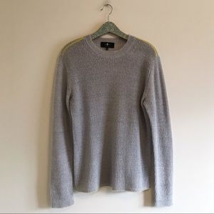 7 For All Mankind | Gray Mohair Crewneck Sweater